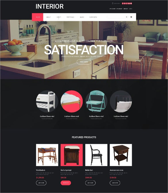 interior furniture design woocommerce bootstrap theme