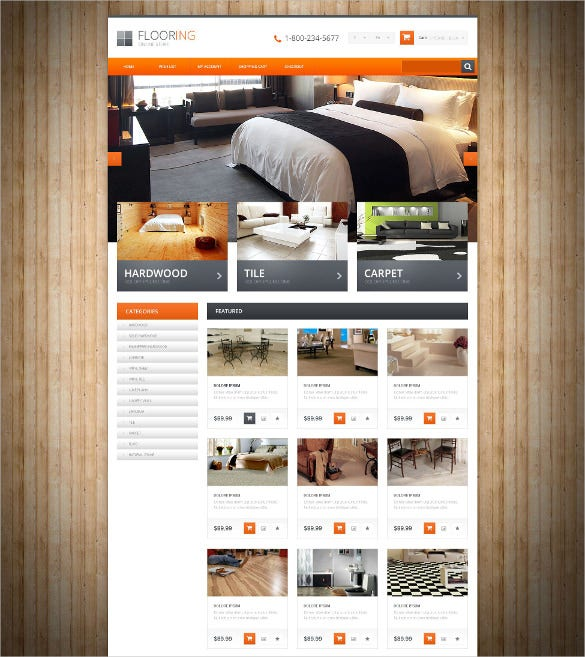 furniture flooring opencart bootstrap template
