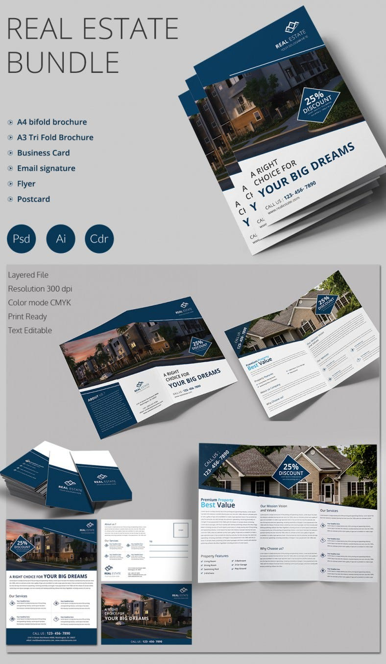 real estate prospectus template real estate flyer template 37 free psd ai vector eps