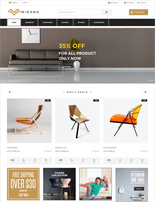 multipurpose furniture magento bootstrap theme