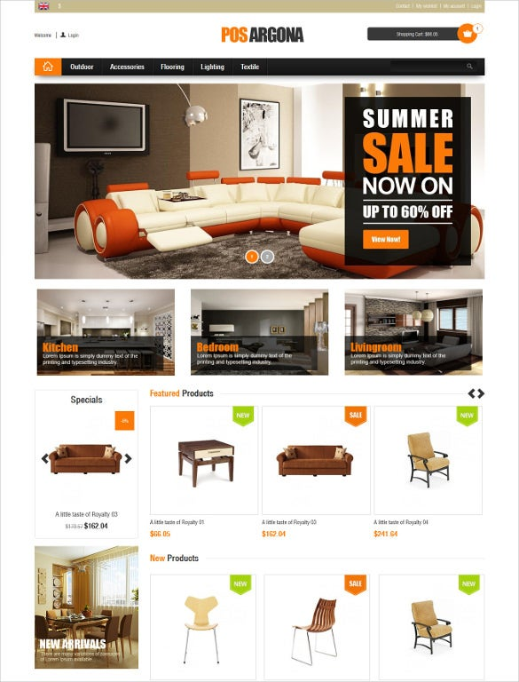 responsive furniture prestashop bootstrap theme