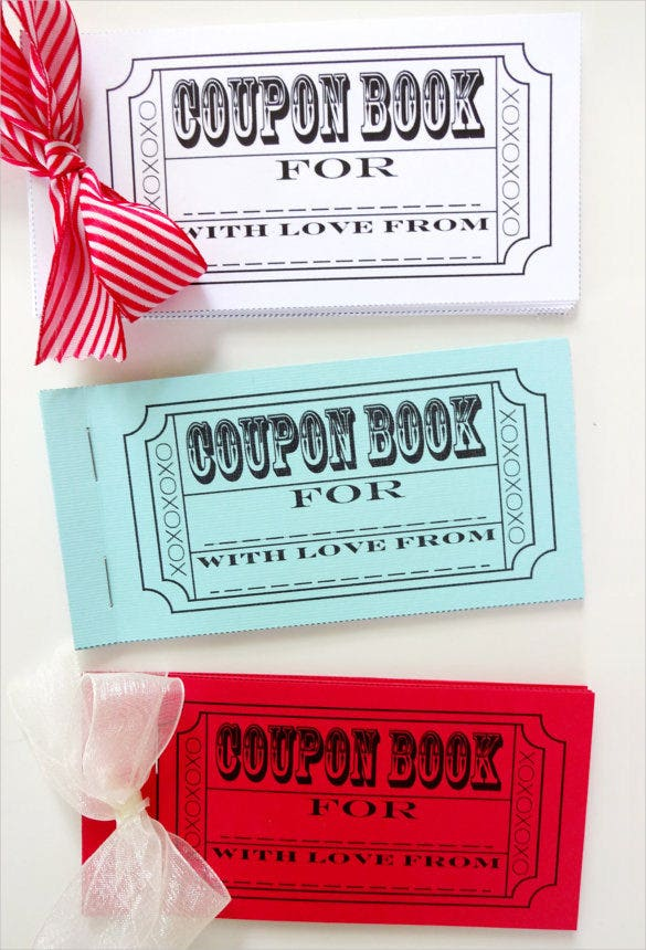 45  coupon book templates