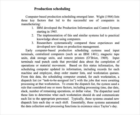 a history of production scheduling free pdf template
