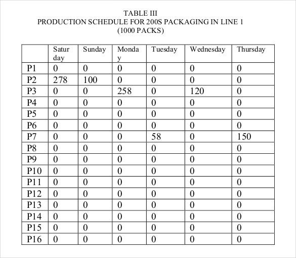 production scheduling for products on differnt machuines free pdf