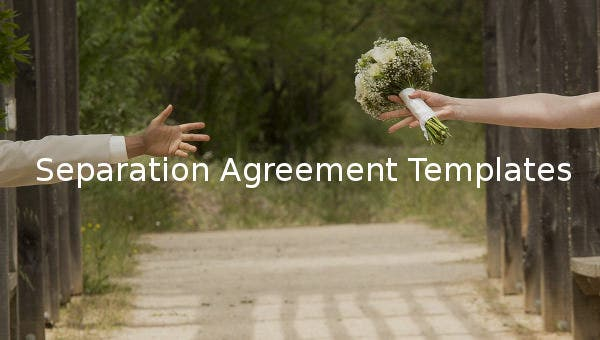 separtion agreement template