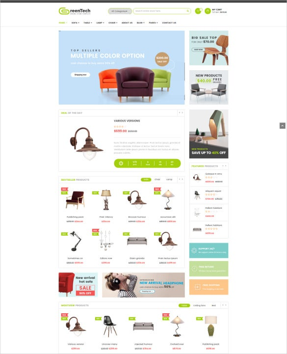 responsive furniture bootstrap template
