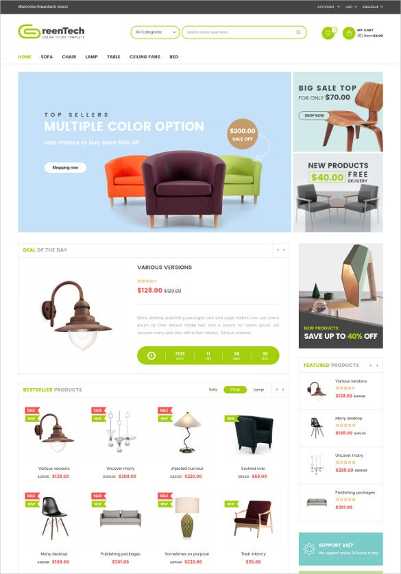 modern responsive furniture bootstrap theme
