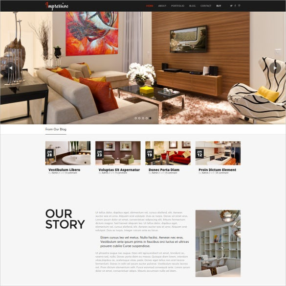 impressive interior furniture html5 bootstrap template