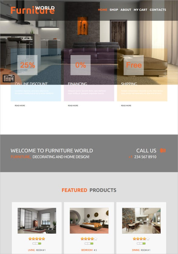 furniture world joomla bootstrap theme
