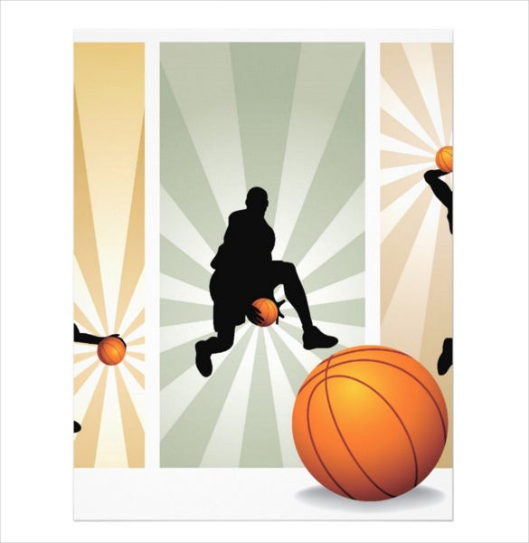 super basketball flyer template