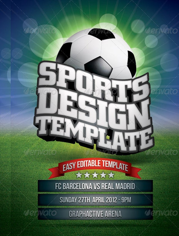 Sports Flyer Template   Free Psd Ai Vector Eps Format
