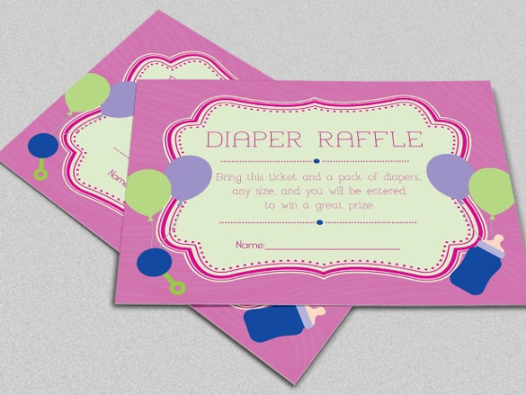 customized retro diaper invitation card template