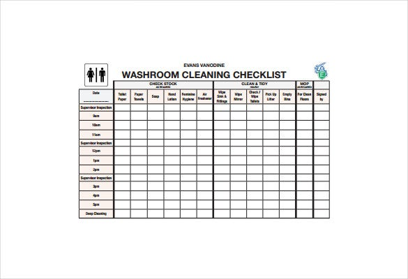 Bathroom Cleaning Log Template - Bathroom Design Ideas