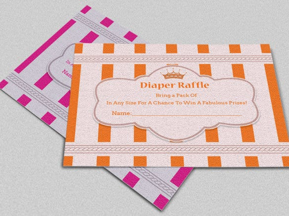 designed crown diaper invitation template