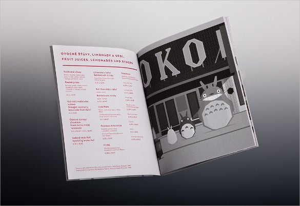 bio oko drink menu template download
