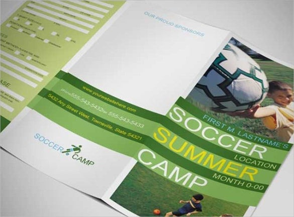 soccer summer camp flyer template