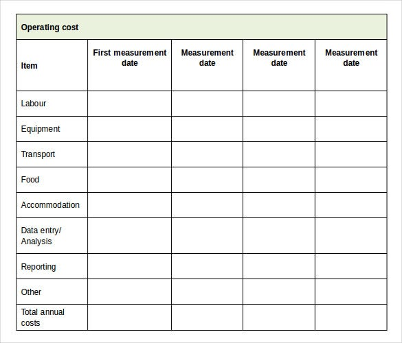 project report inventory template document download
