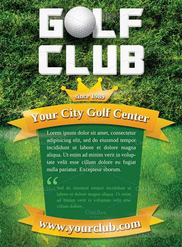 golf club sports flyer template