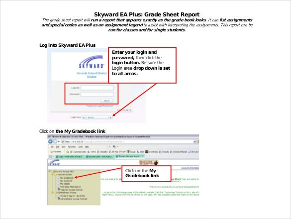 free download grade sheet report template free
