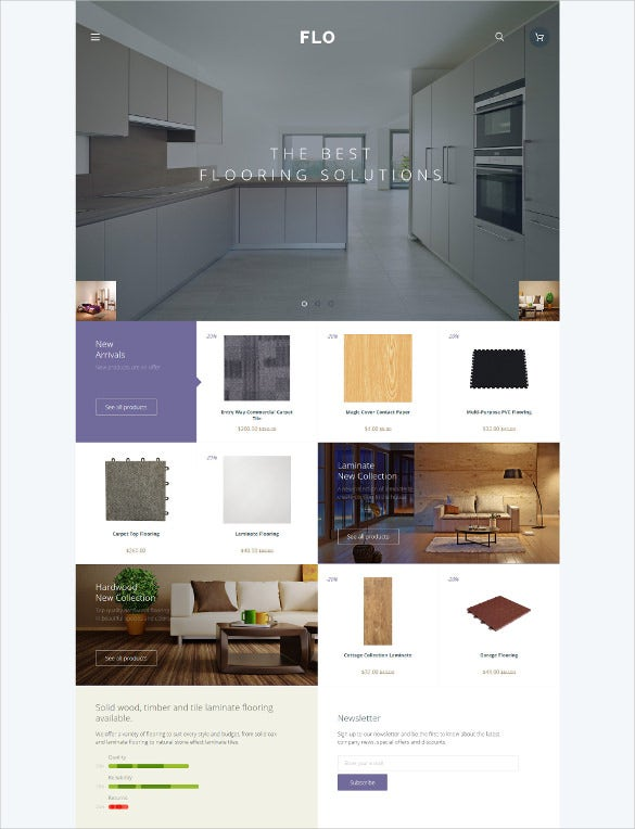 flooring furniture opencart php template