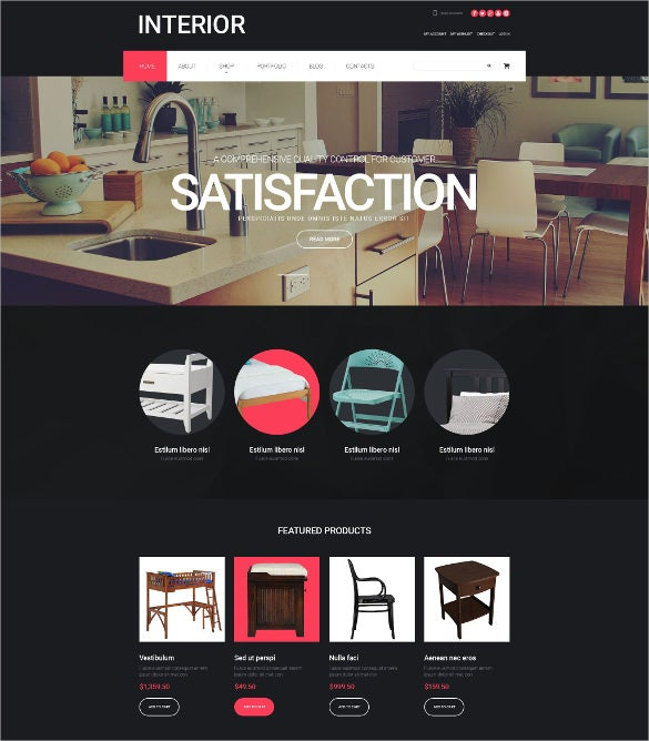 interior design woocommerce php theme