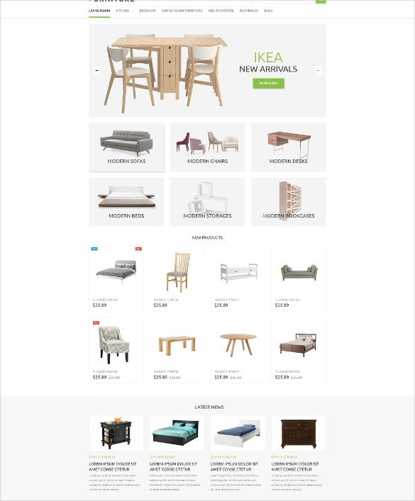 furniture store prestashop php theme