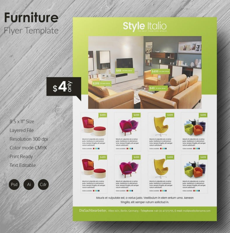 Furniture Design Templates grand furniture flyer template | free & premium templates