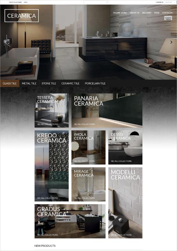 luxury ceramics furniture virtuemart php template