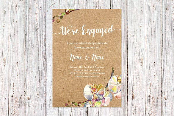 Attractive Engagement Invitation Template  Engagement Card Template