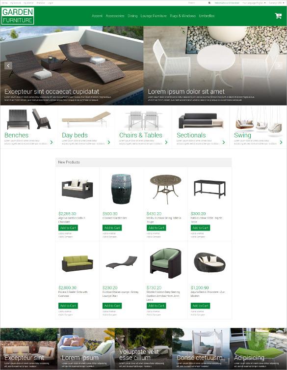 garden furniture magento php theme