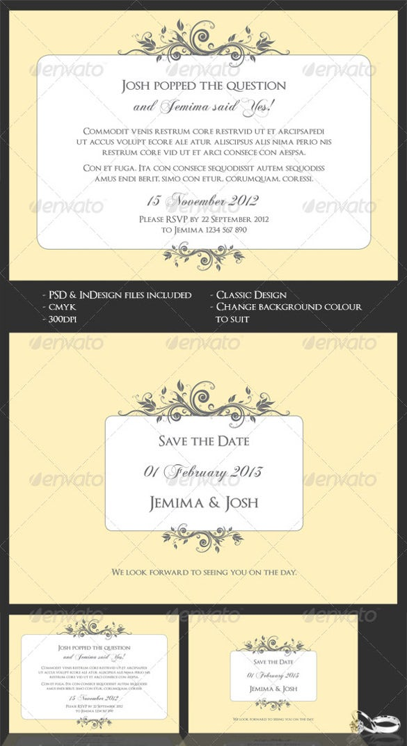 Engagement Invitation Template   Free Psd Ai Vector Eps Format