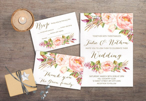 printable wedding menu card template download