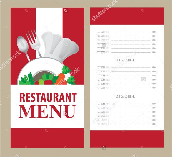 Menu card plain background design pixshark