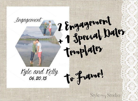 collage engagement invitation template