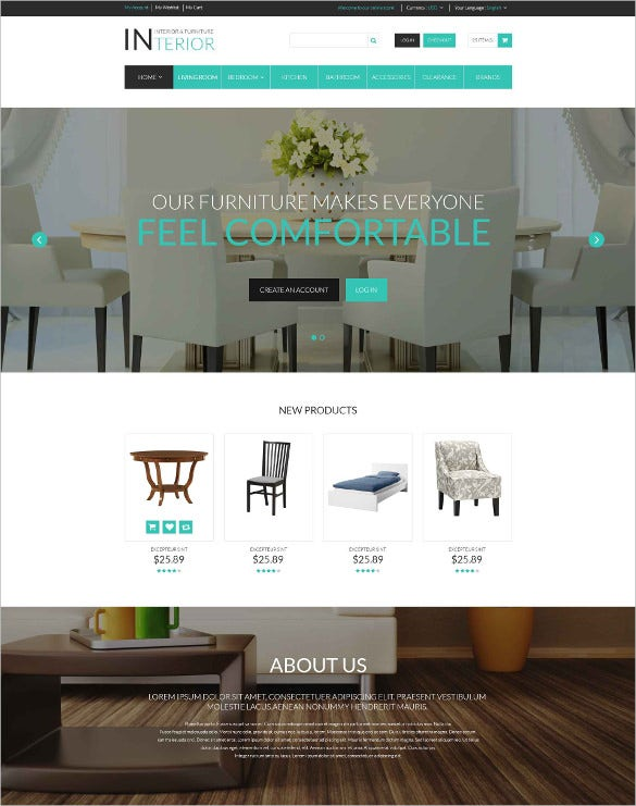 furniture responsive magento php theme