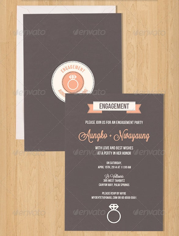 simple engagement invitation template