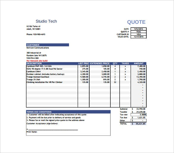 it quotation template - price quotation template 15 free word excel pdf