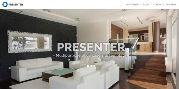multi purpose showcase furniture php template
