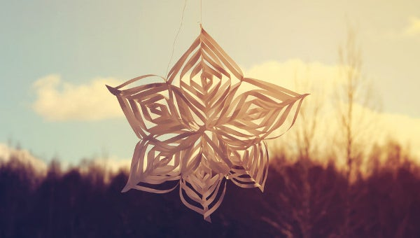 3d paper snow flake