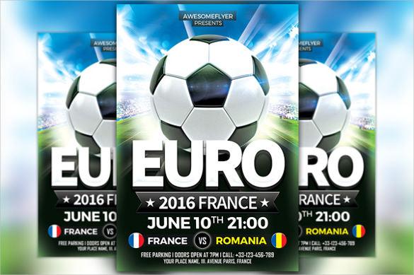 designed euro soccer flyer template