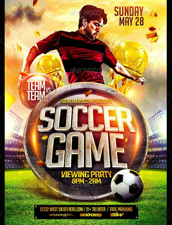 Easy To Edit Soccer Flyer Template