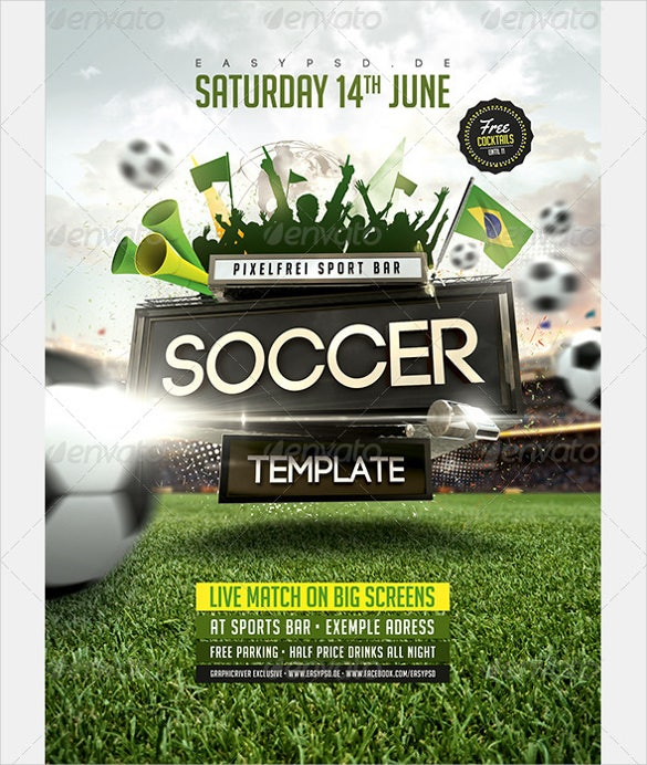 Soccer Flyer Template   Free Psd Format Download  Free