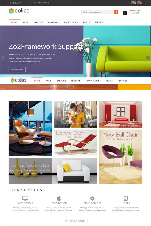 furniture ecommerce joomla php template1
