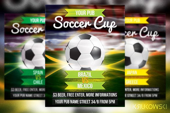Soccer Flyer Template 37 Free PSD Format Download – Competition Flyer Template