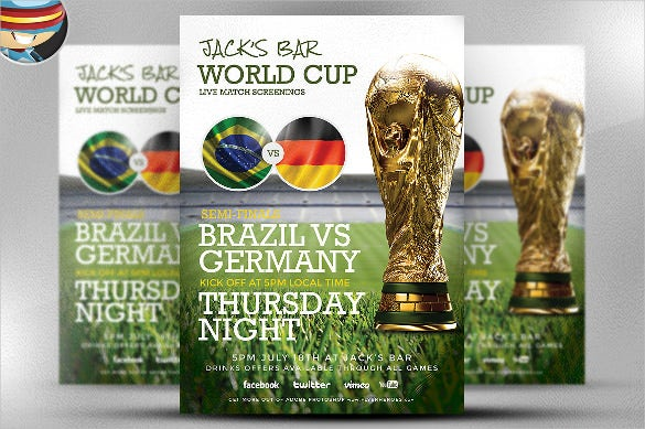 world cup soccer flyer template