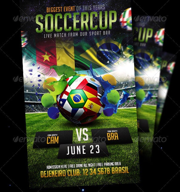 supercup soccer flyer template