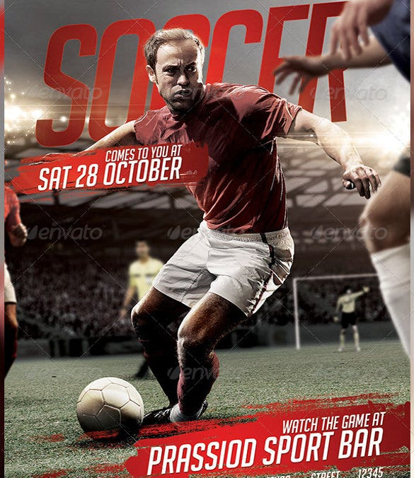 fully customizable soccer flyer template