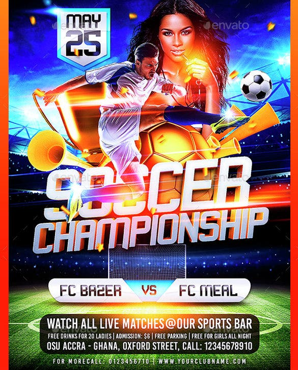 soccer championship beautiful flyer