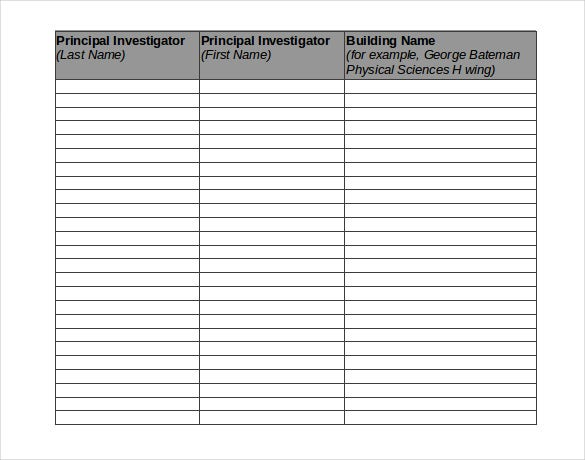verification of chemical inventory template download