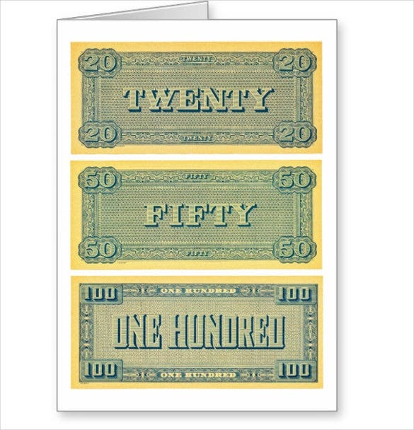 6 play money templates psd pdf free premium templates